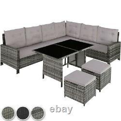 Rattan Garden Furniture Lounge Set Dining Group Corner Sofa Table Patio Extérieur