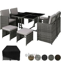 Rattan Garden Furniture Set Cube Wicker 8 Seater Table Cushions Home Patio Nouveau