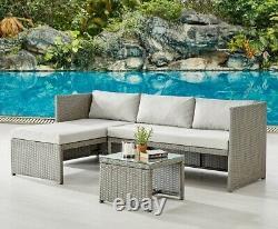 Rattan Garden Furniture Sofa Set Grey Black Brown Patio Outdoor Corner Lounge