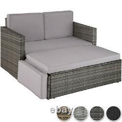 Rattan Lounge Sofa Double Chair Furniture Stool Set Cushion Garden Sièges Nouveau