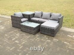 Rattan Sofa Garden Furniture Set Patio Chaises De Table Extérieures Sofa Conservatory