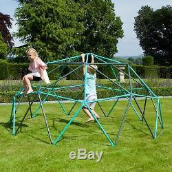 Rebo Enfants De Jardin En Métal Play Set Range Balançoires & Toboggans 10ft Dome Escalade