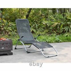 Rocking Gravity Textoline Pliage Sun Lounger Accurt Reclinder Garden Bed Deck