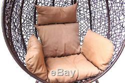 Rotin Effet Balançoire D'intérieur Hamac Lounger Jardin Chambre Patio Egg Chair