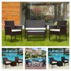 Rotin Meuble De Jardin Table Canapé Chaise Table D'extérieur Ensemble De Patio De Jardin Nouveau Royaume-uni