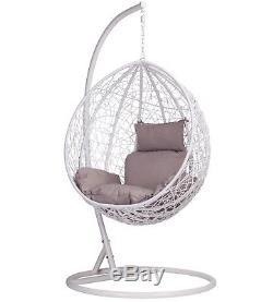 Rotin Style Swing Patio Armure De Jardin Suspendus Oeuf Chaise Et Coussin Extérieur Intérieur