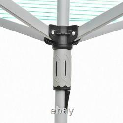 Sécheuse Rotative Airer 4 Arm Clothes Garden Washing Line Dryer 40m Folding Outdoor Dry