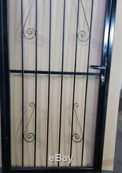 Sécurité De Porte En Acier, Porte. Jardin Métal Gate / Fer Forgé Gate (poudre Enrobée)