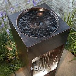 Serenity Cascading Water Caractéristique De L'eau Led Ornement De Fontaine De Jardin De 1 M Nouveau
