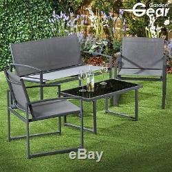 Set Bistro Gear Garden 2 Chaises Canapé Et Table Patio Extérieur Meubles Salle À Manger
