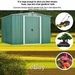 Shed De Jardin En Métal 8x8 Ft Apex En Acier Galvanisé Rangement Extérieur Avec Free Base Ku
