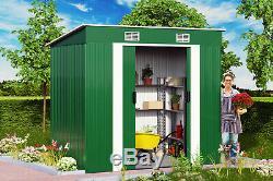 Shed Outil Métallique 6x4ft Extérieur Jardin Stockage Galvanisé Heavy Duty Container Nouveau