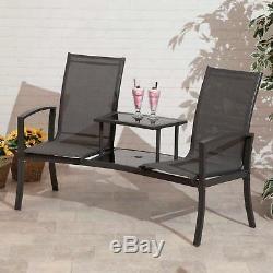 Sièges D'amour Havana Duo Companion Garden De Suntime En Noir, Charbon Ou Bronze