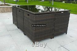 Sofa De Rotin De Luxe Dinant L'ensemble De Jardin En Osier De Véranda De Terrasse