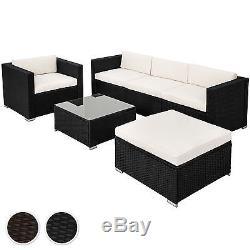 Sofa En Rotin De Luxe En Acier Avec Meubles De Jardin En Osier Extérieur Brun Noir