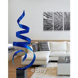Statements2000 Grande Sculpture De Jardin En Métal Abstraite Jon Allen Blue Sea Breeze