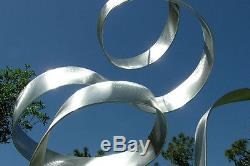 Statements2000 Sculpture De Jardin En Métal Moderne Argenté Art De La Cour Jon Allen Whisper