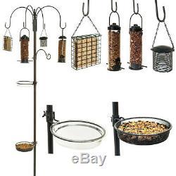 Station D'alimentation Des Oiseaux Sauvages Avec Hanging Feeders Jardin Bain D'eau Table Des Semences Plateau