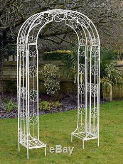 Superbe Jardin Blanc Décoratif Métal Arc / Arc Raina / Pergola Plantes (438)