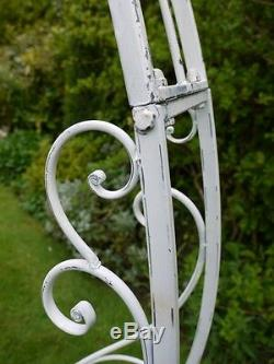 Superbe Jardin Décoratif Métal Arc / Arc Blanc Lavé / Pergola Plantes (3400)