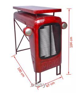 Table De Jardin Vintage En Métal Tracteur Rustique Rustique Meubles Décoratifs Robustes