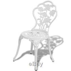 Table Et Chaises De Bistrot Set De Patio En Métal En Aluminium Moulé, Patio, Vert / Blanc