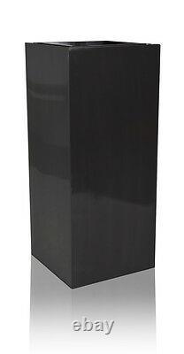 Tall Zinc Cube Metal Garden Planter Planter Pot Tub Étanche Patio Intérieur