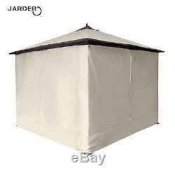 Tente De Jardin À Baldaquin En Tôle D'acier À Structure Robuste Gazebo, Structure En Acier Reduit De £ 398