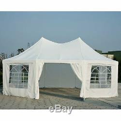 Tente Octogonale De Tente De Partie De 6.8x5m Tente De Pagoda De Jardin De Chapiteau De Mariage Résistant