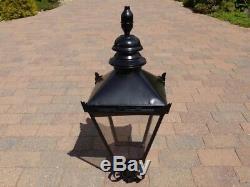 Tradition Black Acier Victorienne Lanterne Top Garden Street Éclairage Extérieur Lampe
