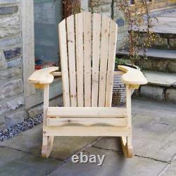 Trueshopping Bowland Adirondack Chaise À Bascule En Bois Pour Jardin Ou Patio