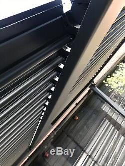 Ventilé Pergola Toit Style Bain À Remous Canopy, Jardin Permanent Auvent Ventilé Ouverture