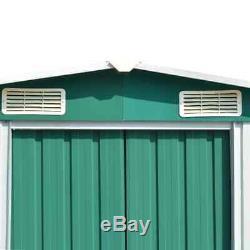 Vert Extérieur Jardin D'entreposage En Métal Shed En Acier Galvanisé 3 Tailles Disponibles