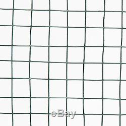 Vert Pvc Enduit Poulet Grillage 30m Escrime Jardin Barrière Clôture Métallique