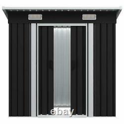 Vidaxl Garden Shed Anthracite Steel Building Maison De Stockage De Garage Extérieur