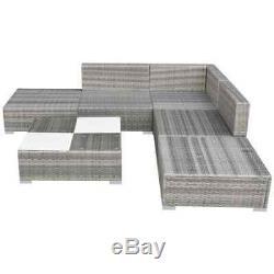 Vidaxl Garden Sofa Set 15 Pièces Poly Rotin Gris Meubles Siège