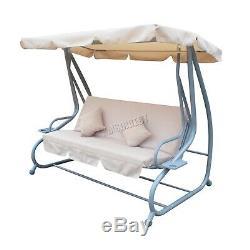 Westwood Sc05 Garden Swing Hamac Chaise 3 Places Banquette Lit Extérieur Beige Nouveau
