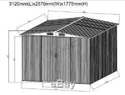 Westwood, Stockage Extérieur Avec Toit Libre, Nouveau Toit En Métal Apex Avec Abri De Jardin