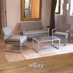 Wido 4pc Grey Garden Patio Chaise / Sofa Conservatoire De Meubles De Plein Air