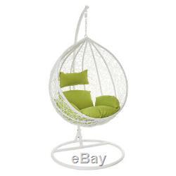 Wido Chaise Suspendue À Œufs Balançoire, Blanc, Mobilier De Jardin En Rotin, Siège De Jardin