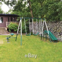 Wido Enfants 5 Pièces De Jardin Extérieur Swing Slide Seesaw Terrain De Jeu Enfants