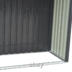Xlarge Store Garden Shed 10x8 Maison À Outils En Métal Galvanisé Avec Log Store Room