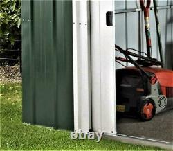 Yardmaster Le N ° 1 Emerald Deluxe Apex Metal Garden Shed Taille 6'8x 4'6