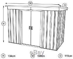 Yardmaster Unité De Rangement De Jardin En Métal, 6 X 4 Pi