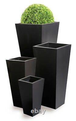 Zinc Noir Grand Plante Métallique Plante Métal Plante Plante Jardin Galvanisé Galvanisé